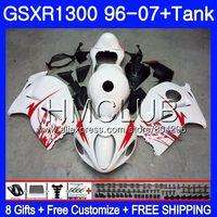 Обтекатель для SUZUKI Hayabusa GSXR 1300 GSXR1300 96 97 98 99 00 01 26HM. 6 GSX R1300 1996 1997 1998 1999 2000 2001 завод белый