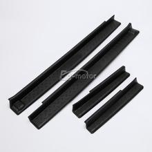 4x Black Door Sill Scuff Plates Guards Protector For Jeep Wrangler JK 4DR 2007 2015 82210106