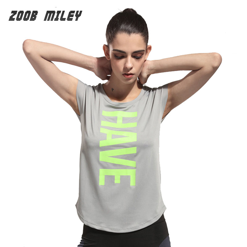 Women Yoga Shirts Gym Fitness Running Sports Compression Tights Quick Dry Tops Tees Ladies O Neck Short Sleeve Yoga Shirts