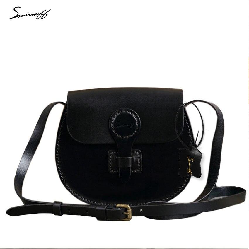 SMIRNOFF 2017 Women Fashion Small Handbag Genuine Leather Saddle Bag Candy Color Simple Design Famous Brand Messenger Bag Female как купить авто в apb