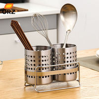 ORZ Tableware Storage Basket With Bracket Chopstick Spoon Bucket Knife Fork Dinnerware Holder Rack Drain Kitchen Accessories