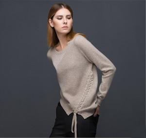 Image 2 - 100 Cashmere Áo Len Nữ Nâu Nhạt Chui Đầu Cổ Tròn Thời Trang Ấm Áp Mềm Mại Chắc Chắn Chất Liệu Vải Tự Nhiên Chất Lượng Cao Miễn Phí Vận Chuyển