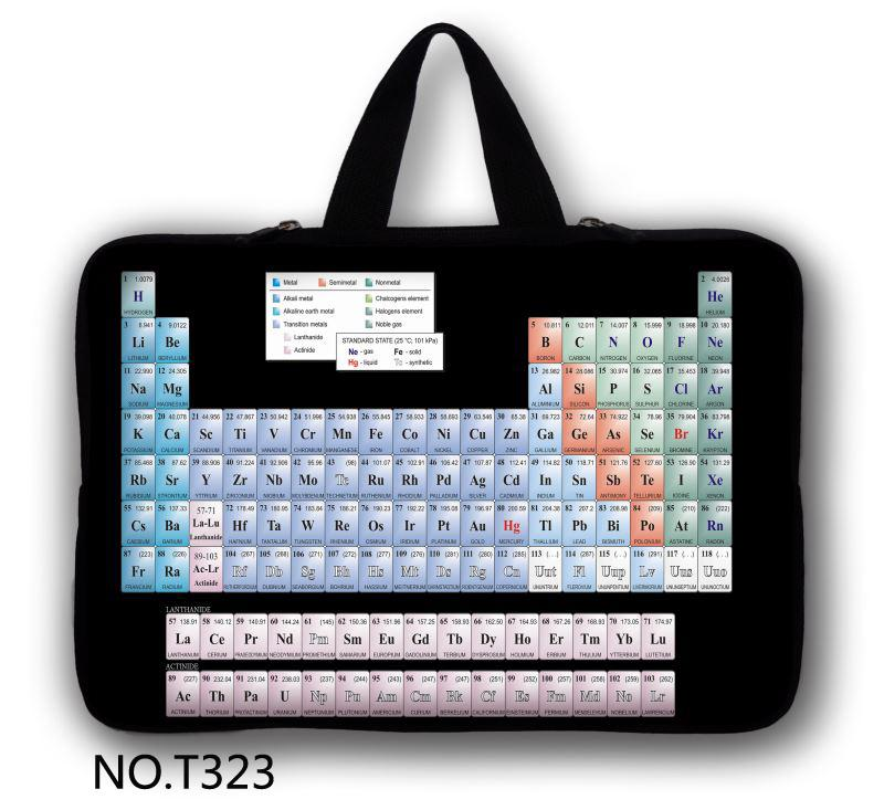 Periodic table Computer Accessories Fashion Neoprene Laptop Bag Cases Pro