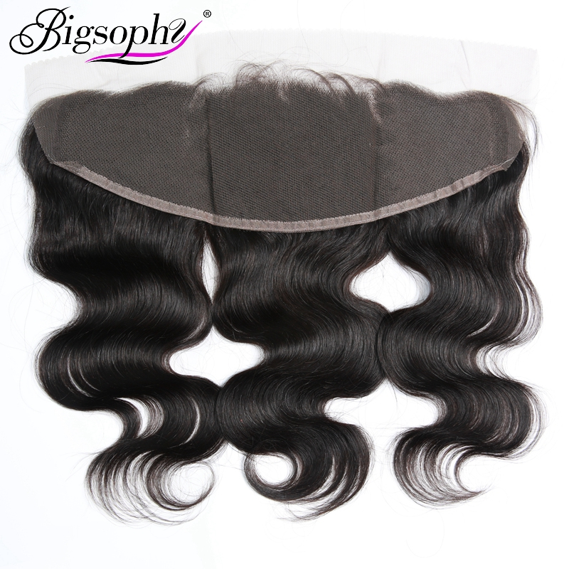 Bigsophy Brazilian Body Wave Closure 13 4 Human Hair Ear To Ear Lace Frontal Closure Remy