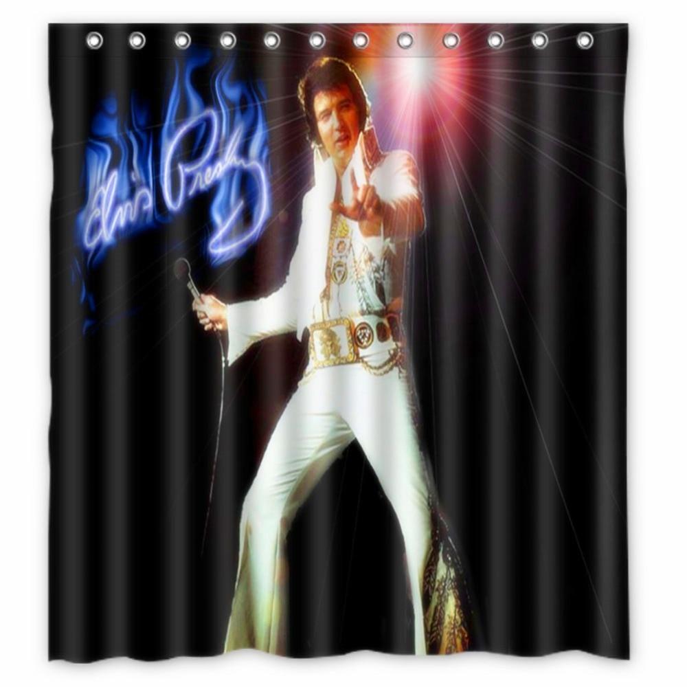 Home furniture diy modern design bathroom polyester shower curtain with hooks standard size 180x180