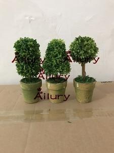 3pcs,H15cm,Ailury,Mini Artificial green Plant decorative Potted Plant for Living Room Home Office,shop decor,Xmas