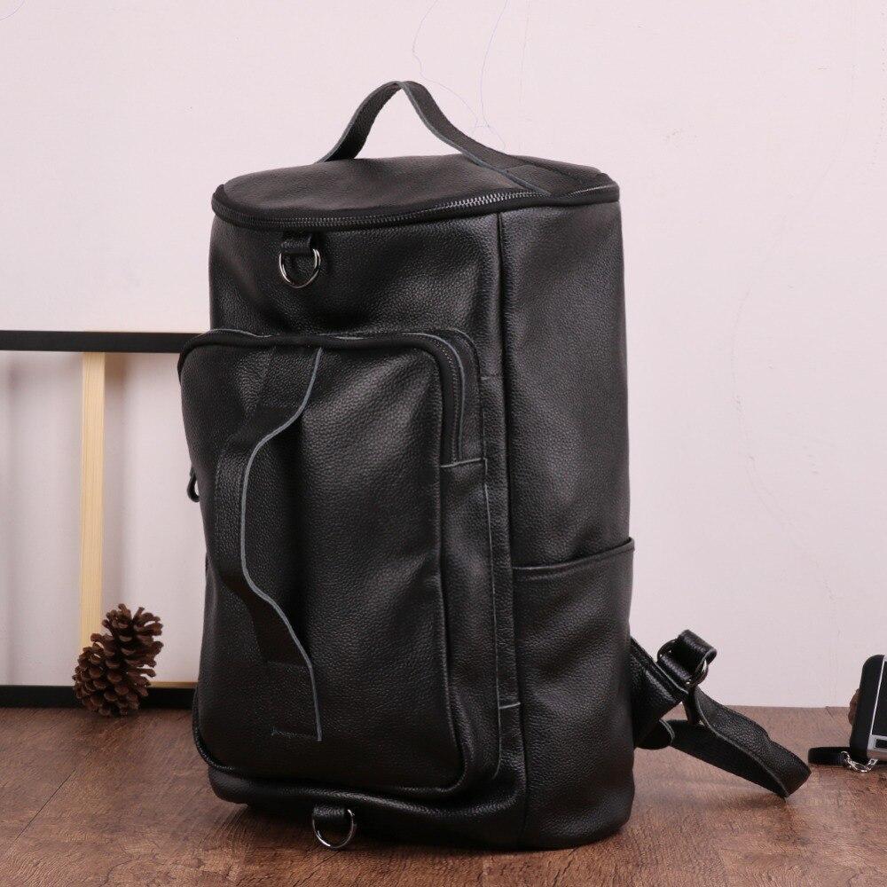 University College Student Tasche Laptop Rucksack Designer Daypack Black Buch Echtes Joyir Männer brown Männlichen Schule Reise Mode Leder xRA6WXzwYq