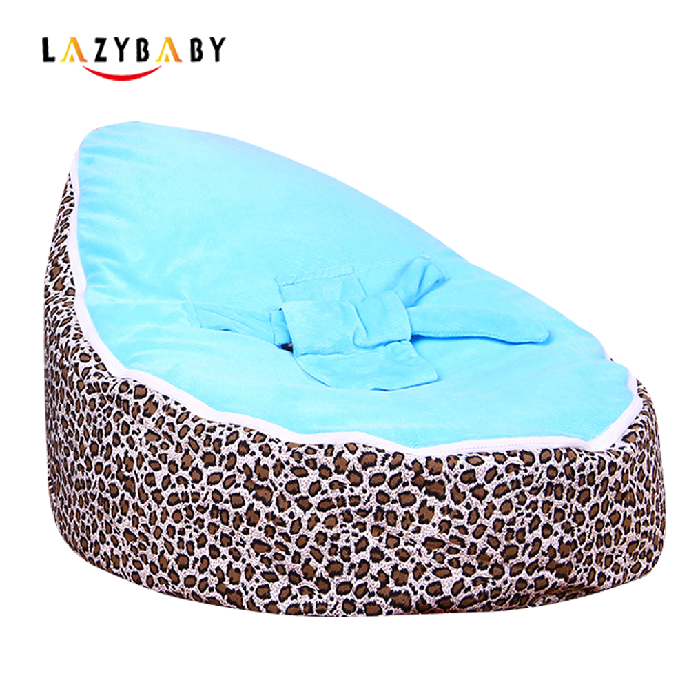 Lazybaby Medium Leopard Baby Bean Bag Chair Kids Bed For