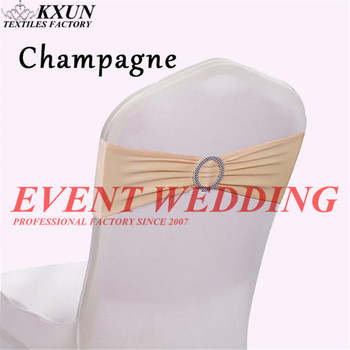 Cheap Price Spandex Lycra Wedding Chair Cover Sash Band With Buckle For Wedding Party Birthday Chair Decoration Chair Sash