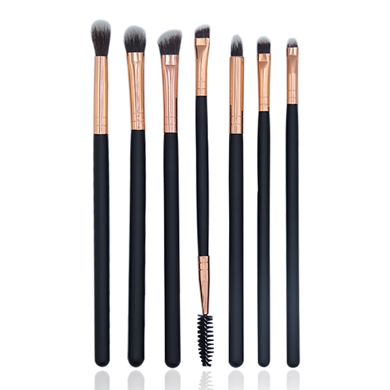 BBL 7 Essential Makeup Eye Brush Set - Eyeshadow Eyelash Eyeliner Tapered Blending Crease Kit Make Up Brushes Pincel Maquiagem 5