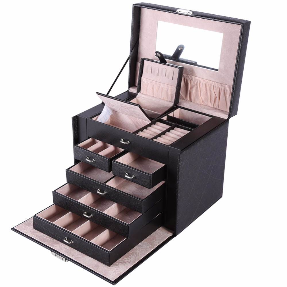 Enviado de nosotros ultra-Práctico señoras de gran capacidad caso cosmético profesional estratificación puede prevenir diversos cosméticos