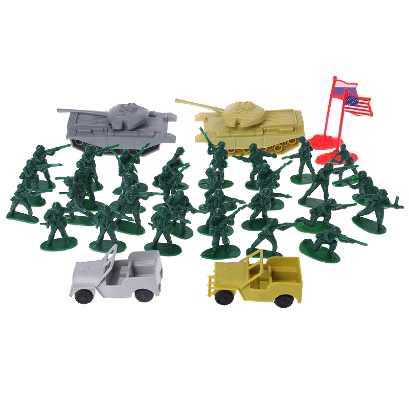 Military Sand Table Soldier Model Set Kids Boy Soldier Model Set Scene Building Toys