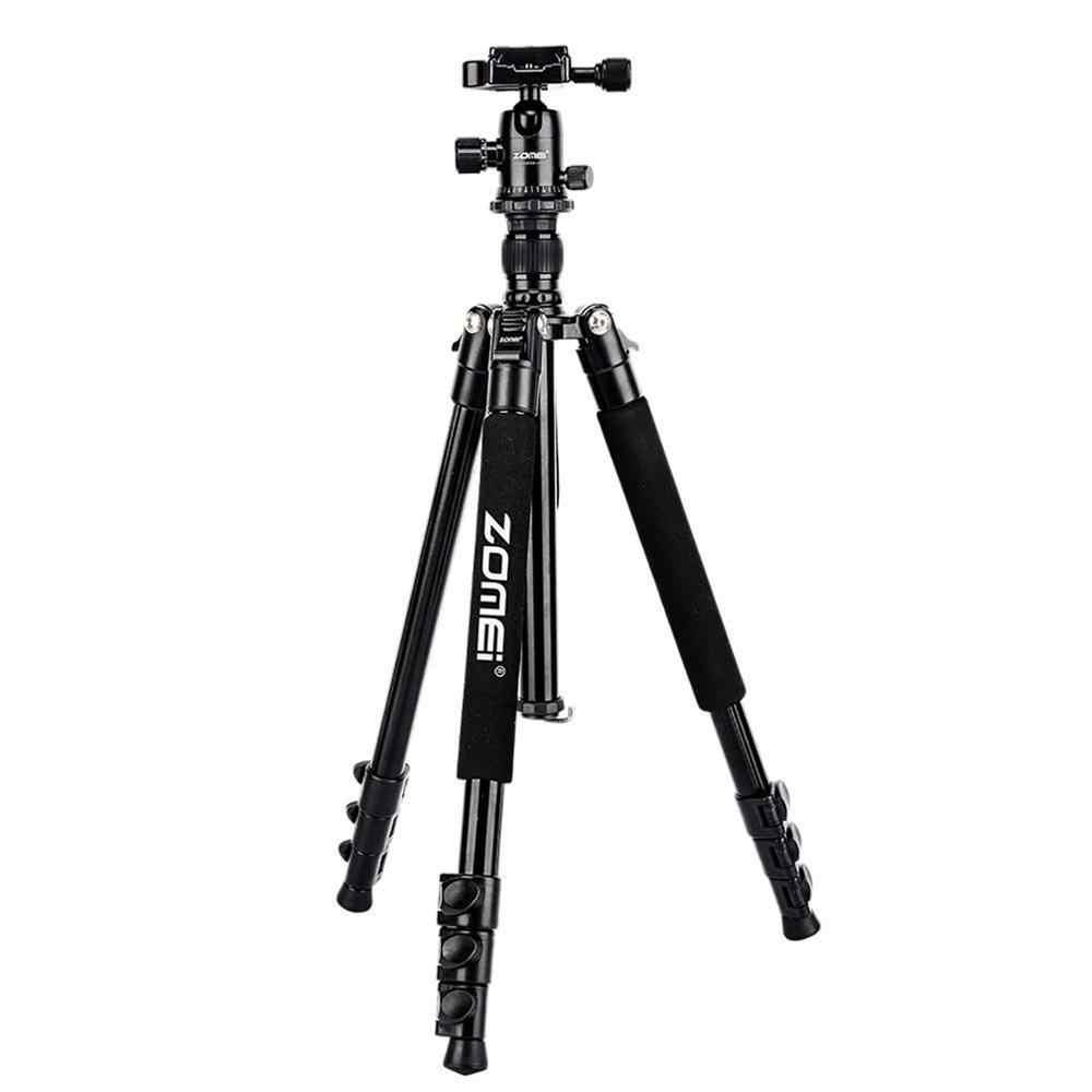 Zomei المهنية Q555 كاميرا ترايبود خفيفة الوزن حامل كاميرا ثلاثي الأرجل مصنوع من الألومنيوم الوقوف مع الكرة رئيس لكانون نيكون سوني DSLR كاميرا