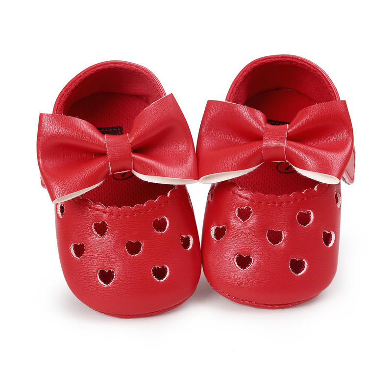 Newborn Baby Girls Princess Shoes Anti-Skid Toddler Zapatos Bebe Soft Sole Heart Butterfly-knot Infantil Crib Sapatos Moccasins