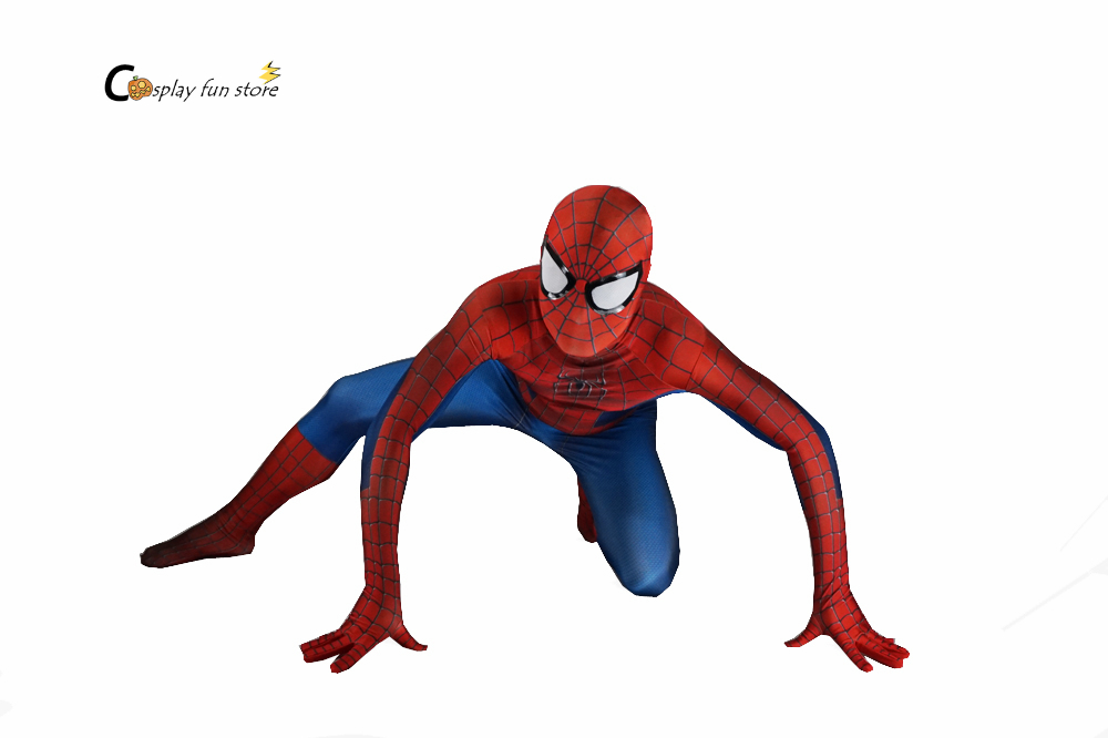 Incroyable Spiderman Femme Costume Adulte Mens Costume de Super-Héros Spandex Zentai Costumes Lycra Masque Complet Bodys Pour Halloween Cosplay