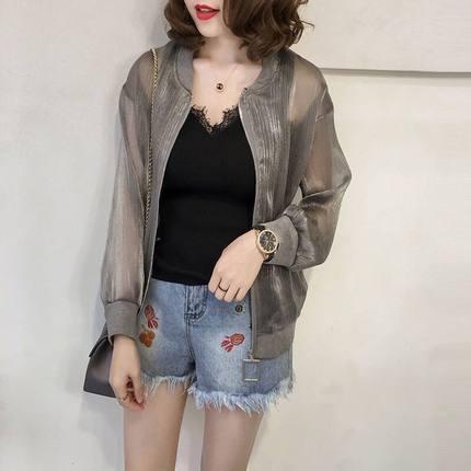 Summer Jacket Women Sunscreen Coat 2019 Casual Perspective Long Sleeve Women's Jacket Thin Breathable Beach Cardigan coats 31