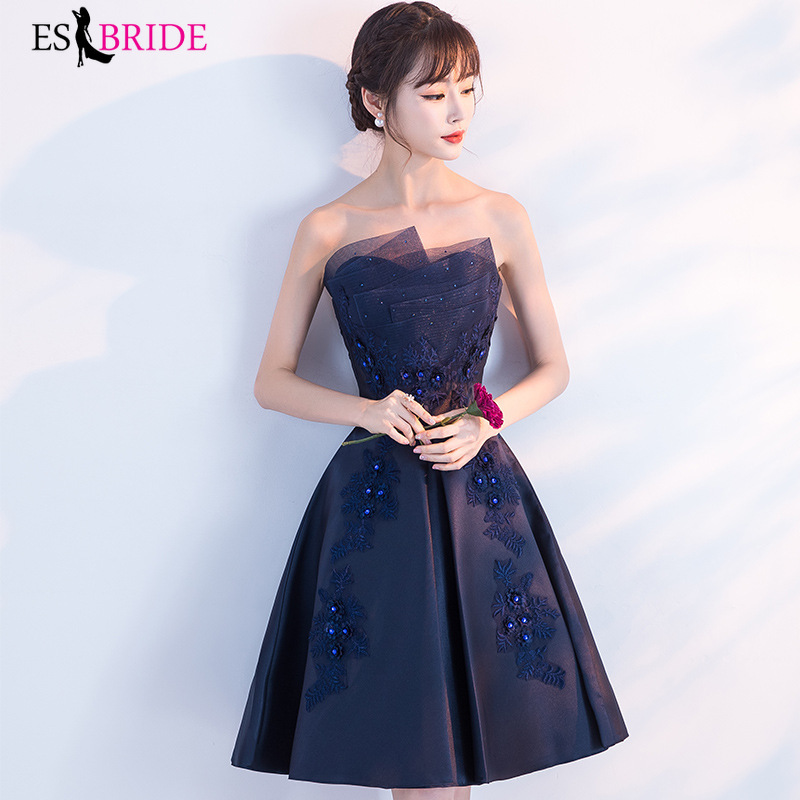 Sexy Strapless   Evening     Dress   Long Royal Blue   Evening   Gowns for Women Princess Formal   Dress   Fashion Special Occasion   Dress   ES1993