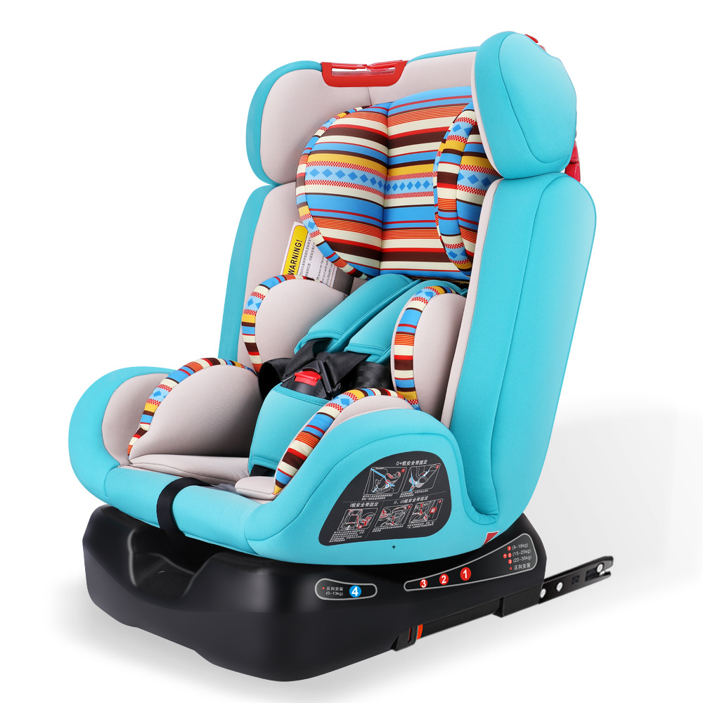 Child car safety seat carmind ISOFIX hard interface car seat can sit can lie adjustable for 0-12 years old