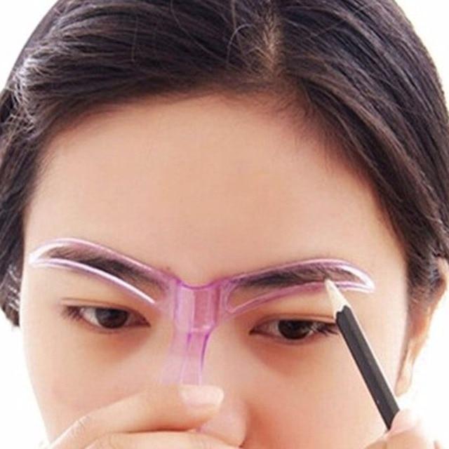 Lmlly New Fashion Eyebrows Shaping Thrush Card Eyebrow Stencils
