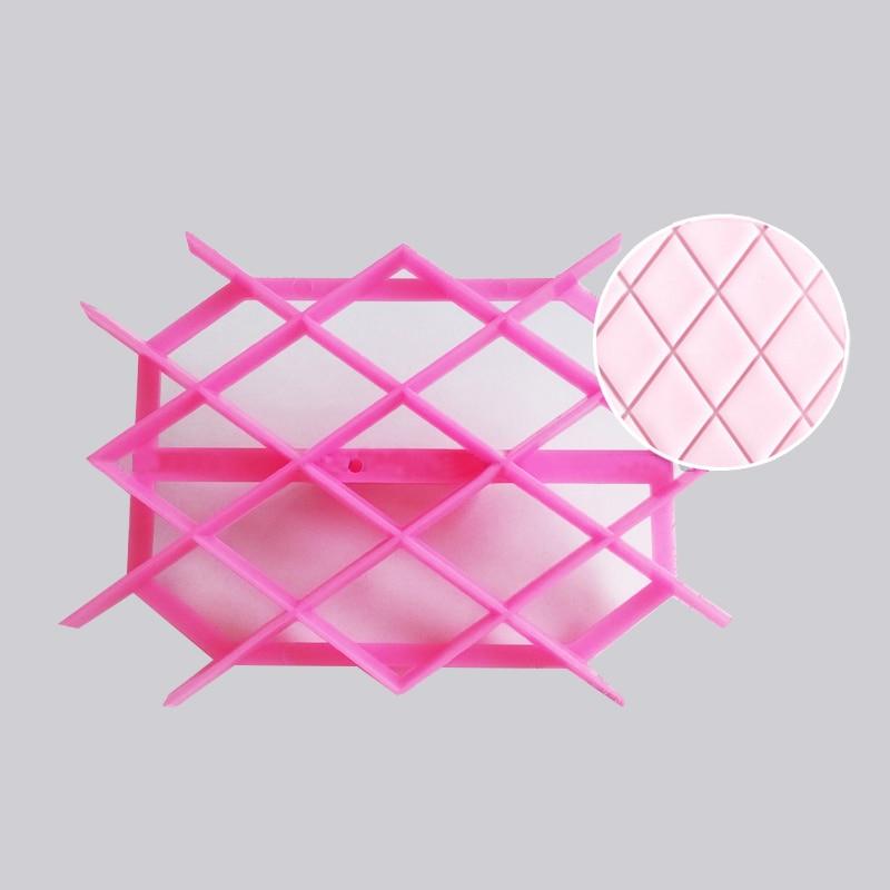 Diamond Sugarpaste Gum Icing Baking Quilt Fondant Cake Raft Equipment Tool Embosser Cutter Icing Embosser Mould