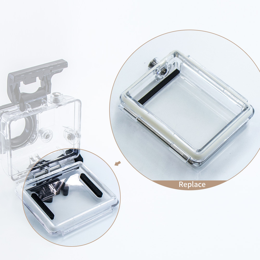 Waterproof Float Sponge LCD Version Backdoor Screen Cover Housing Case for Gopro Hero 3 Action Camera GO Pro Session Accessories