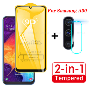 2 In 1 For Samsung Galaxy A50 2019 Camera Lens Film 9D Screen Protector Protective Tempered Glass for Galaxy SM A50 A505F S A51(China)