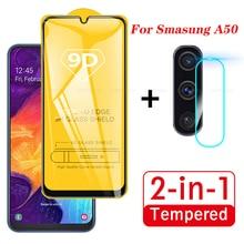 2 In 1 Voor Samsung Galaxy A50 A51 Camera Lens Film 9D Screen Protector A70 A71 Beschermende Gehard Glas Voor galaxy Sm A50 A505F