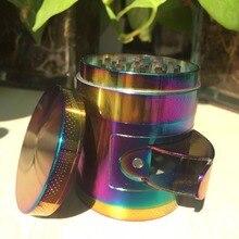 4layers55mm zinc metal Rainbow Spice tabaco hierba Picadoras para fumador fumar accesorio trituradora chicha molino de café fantástico