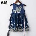 A15 moda princesa vestido de la muchacha traje de niña de 3 años de verano 2017 Partido de la Alta Calidad Para Niños Ropa de Niña de 4 Años de Edad 6 8 10