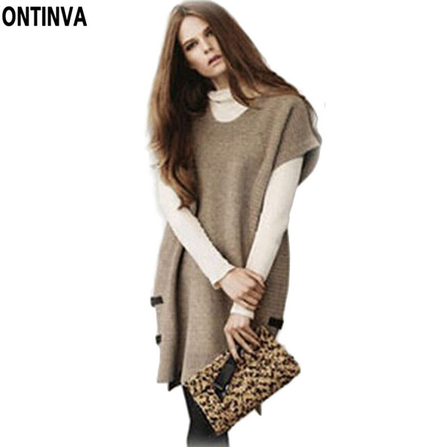 097aa0d90 Autumn Winter Batwing Sweater Dresses 3XL XXXXL Women Clothing Loose Casual Dress  Womens Knitted Jumpers Big size Long Pullovers
