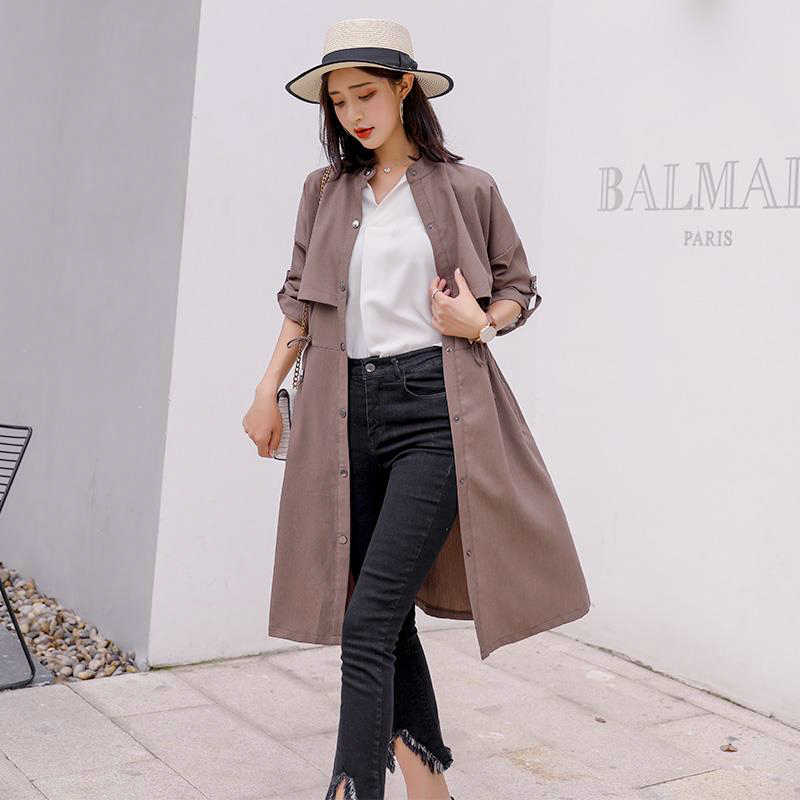 08a1ee878 2018 Autumn New High Fashion Brand Woman Classic Double Breasted Trench  Coat Waterproof Raincoat Business Outerwear