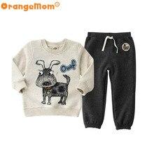 2017 мода медведь clothing наборы для детской одежды, 3-6y толстовки футболки для мальчиков одежды apring осень повседневная детская clothing(China (Mainland))