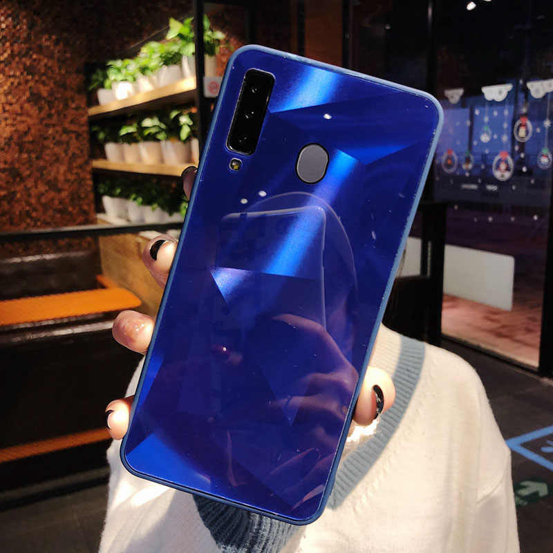 Miroir 3d diamant couverture arrière pour huawei p20 pro p30 lite p smart y9 y6 y7 prime 2019 mate 10 20 30 lite honour 10i 20 lite case