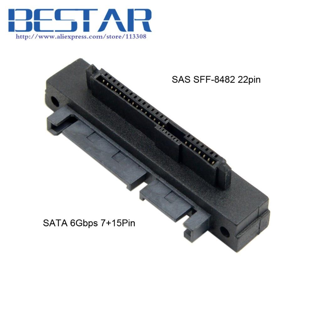 (100pieces/lot) Right Angled 90 Degree SFF-8482 SAS 22 Pin to 7 Pin + 15 Pin SATA Hard Disk Drive Raid Adapter