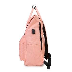 Image 2 - 女性外部 USB 充電バックパックキャンバスリュックサック男性 Mochila アブラソコムツ女の子のラップトップバッグバックパック十代の若者たち