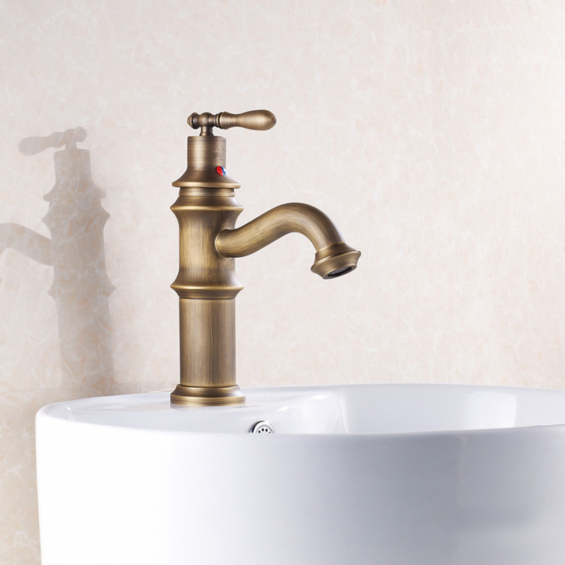 Wonderful Free Shipping Low Price Antique Basin Sink Faucet With Single Handle  Antique Bathroom Mixer Tap,