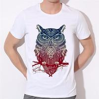 Hand Color Printing Modal Fashion T Shirt Owl Comfortable Breathable Necessary Summer Coat Cartoon Clothing Boy
