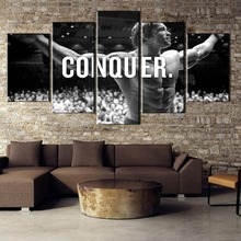 5 Pieces Print Picture Poster Conquer Pictures Arnold Schwarzenegger For Modern Decorative Bedroom Living Room Home Wall Art