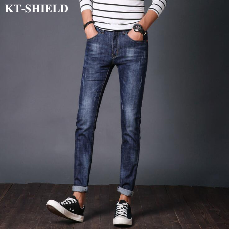 Hot Sale Jeans Men Casual Fashion Denim Pants Trousers Full Length Masculina Slim Fit Straight Jean