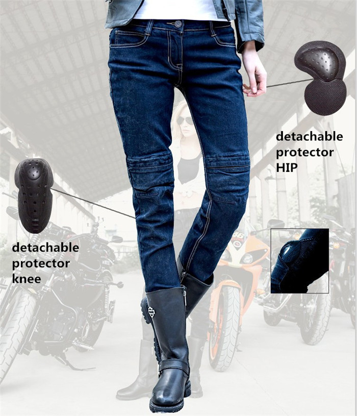 Freeshipping 2017 Uglybros Incision Jeans women moto riding pants outdoor jeans removable protective gear Motorcycl racing pants