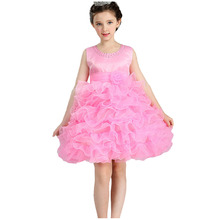 Factory Direct Girls Princess cake yarn dress baby girls party wear elegant tutu Dress Formal Occasions Prom Ball Gowns Dress цена
