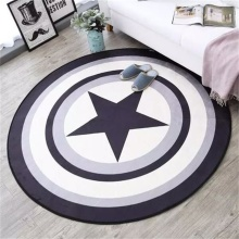 Fashion Soft Round Flannel Decorative Carpet Foot Door Yoga Chair Play Mat Pad Bathroom Hallway Area