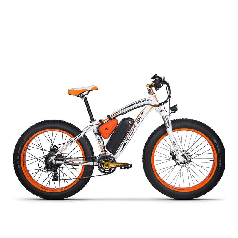 RichBit Neue RT-012 Plus Leistungsstarke Elektrische Fahrrad 21 Geschwindigkeit 17AH 48V 1000W Fett Reifen Ebike Mit Computer Tacho elektrische Odomet