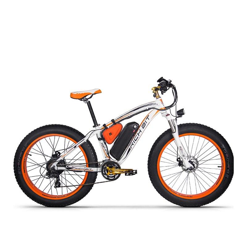 RichBit nuevo RT-012 más poderosos Bicicleta Eléctrica 21 velocidad 17AH 48 V 1000 W grasa neumático de la bici con la computadora velocímetro eléctrico Odomet