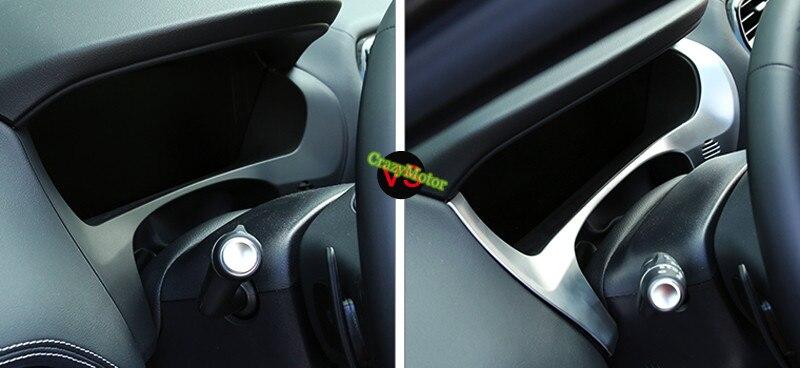 1pcs Car Interior instrument decoration cover trim For Jaguar F-Pace f pace (X761) 2016 2017 Left hand drive car for jaguar f pace f pace x761 2016 2017