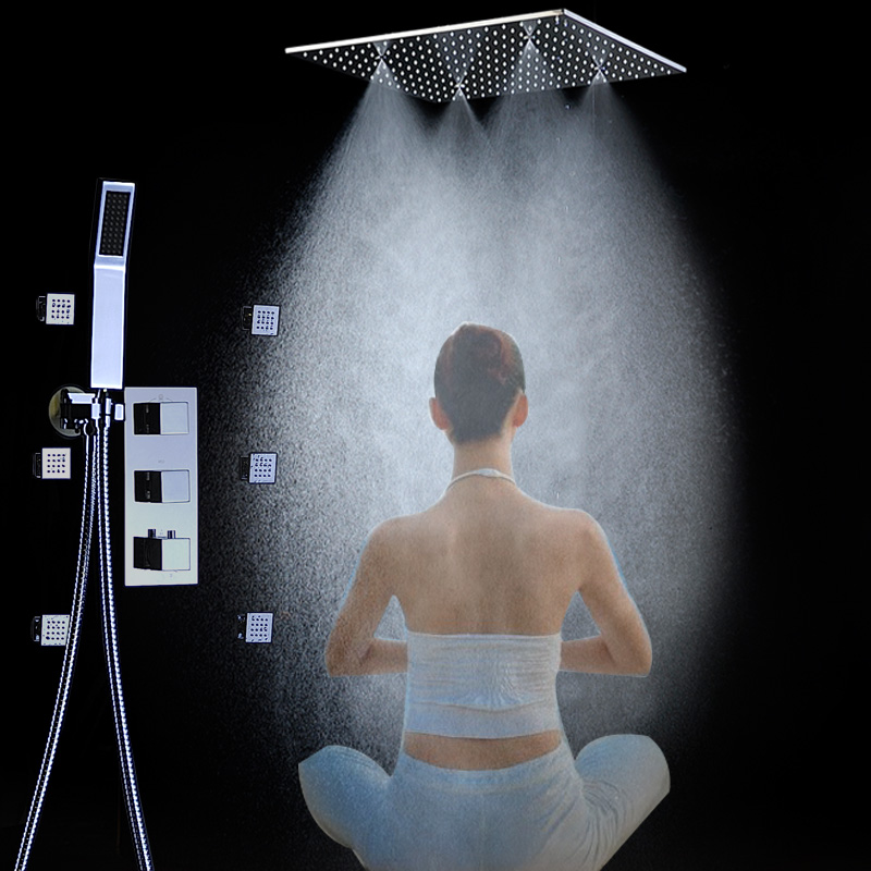 spa mist shower panel system and top head faucet shower body jets and hand shower both brass for bath accessories t