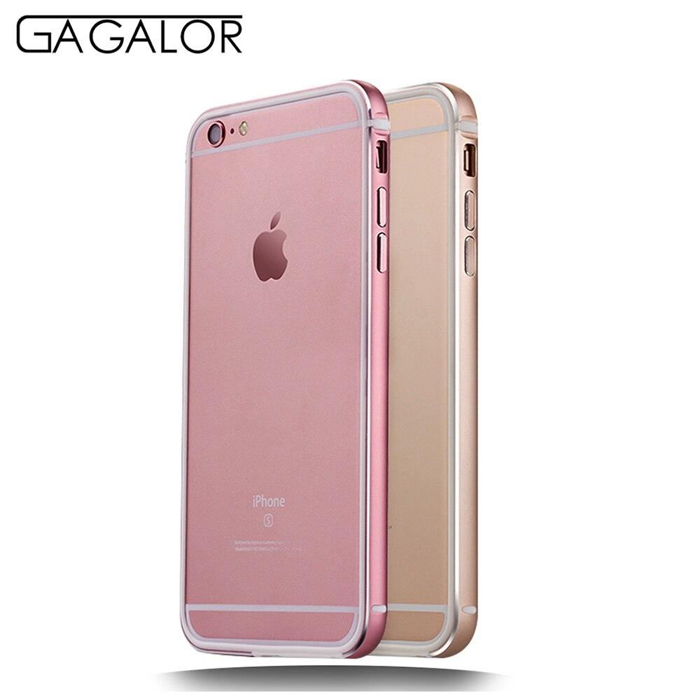 Gagalor phone metal aluminum bumper for iphone 6s plus 6s rose gold case frame
