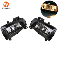 POSSBAYFit for Audi A4 Sedan/Avant 2013/2014/2015/2016 Car Styling Front Bumper Halogen Fog Lights LED Daytime Running Lights
