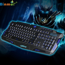 GS Russian Version 3 Color Switchable Backlights LED Pro Gaming keyboard USB Wired Power Keyboard Game Keyboard for PC Jul 13