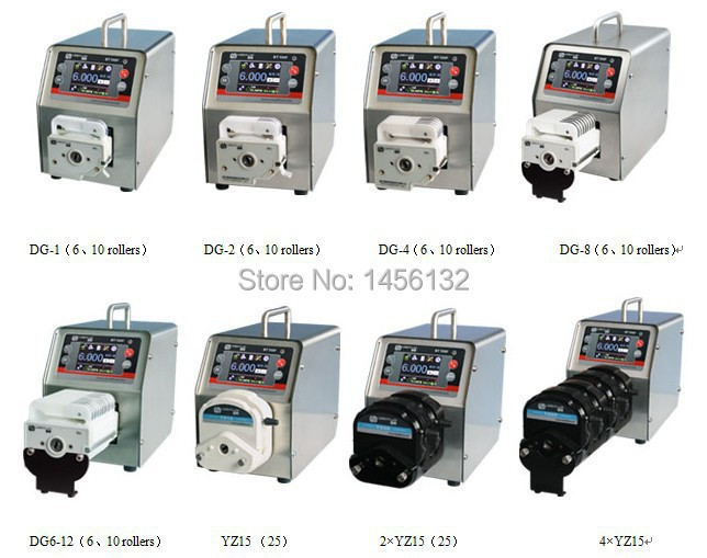 BT100F 2 x YZ25 Интеллектуальный Дозирующий перистальтический насос точный жидкий силиконовый трубный перистальтический насос 0,16 ~ 420 мл/мин. - 2